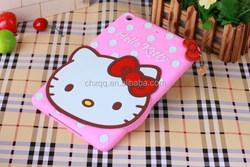 Cute 3D Cartoon Hello kitty Soft Silicone TPU Gel Rubber Case Cover multicolor cover For Ipad Ari 2/Ipad 6