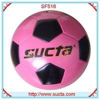 Pink 31 panel machine stitched soccer ball ST516PK
