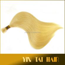 7A top quality 1 Bundle Brazilian 100% Virgin Human hair body weaving Remy Weave Weft Extension weaving/ hair bulk blond hair bu