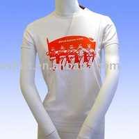 casual wear with white printing women t shirt