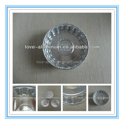 Round Food Grade Best-Selling Pollution-free Small Aluminum Foil Cupcake/Tart Baking Pan/Container-Multi Size
