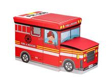 kids toy foldable storage box folding bus stool ottoman