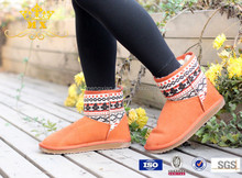New Style Snow Boots Women Large Size Winter Knitted Boots