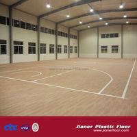 pvc vinyl foamed flooring for basketball court