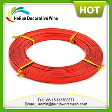 Flat craft colored aluminum wire for different sizes