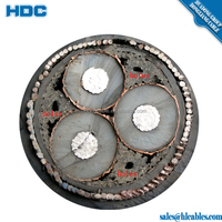 6/10KV 26/35KV Cu/XLPE/SWA/PVC XLPE Insulated Underground Electricity Cable 3C 120mm2 240mm2