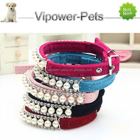 Fashion Diamante Dog Collar Luxury Pearl Pet Collar Wholesale Dog Necklace For Puppy Dog
