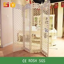 Exterior de madera de estilo chino talla plegable pantalla