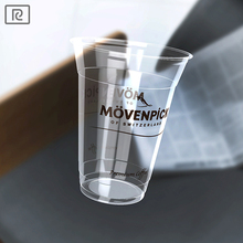 R450Y-T 15oz 450ml biodegradable transparent plastic - PLA cold beverage ice cream sundae smoothie cup