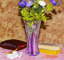 Purple color glass vase,