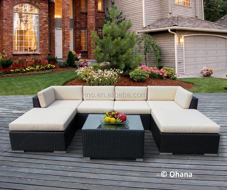 Wow exterior muebles de mimbre del patio profundo de for Conjunto rattan barato
