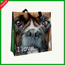 2015very High Quality 3D dog cartoon Laminated PP Non Woven Bag For Shopping Bag Use