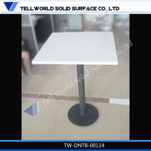 high gloss fancy style round stone top dining tables