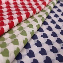 2015 new arrival chenille heart design jacquard woven designer fabrics