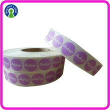 Custom Label Sticker Printing Adhesive Plain Color Label Roll