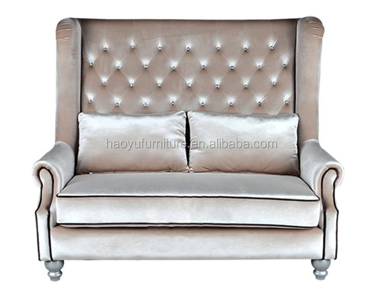 Tb02 High Back Chesterfield Sofa 2 Seater Sofa Velvet Chesterfield Sofa Buy High Back