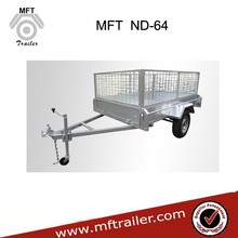 High Quality 8*5 Full Welded Tipper Galvanized Box Trailer With Cage