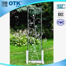 modern glass wall art decor/shower enclosure glass