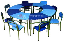 Nursery School Furniture 8 Kids Round Shape Table and Chairs