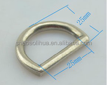 metal D ring, D circle ring with customized logo for bags, shoes