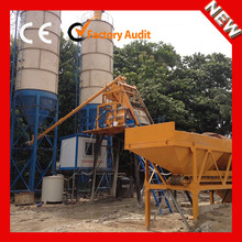 Factory supply skip type HZS50 stationary concrete batching plant