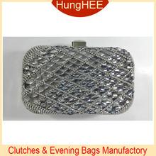 Luxury Rhinestones Bling Box Evening Clutch Bags Crystal and Rhinestone Evening Bags