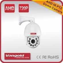 720P AHD PTZ Dome Camera 18X 360degrees 220 Presets Auto/Manual/Disposable Focus