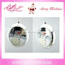 Trade Assurance Supplier Christmas clear glass ball Christmas ornaments,Hand Blown christmas ornaments clear glass flat ball