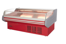 fresh meat display cooler top open automatic defrost