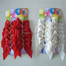 Red and White Fabric /Velvet Ribbon Butterfly Bow Tie for Wrapping Chairs/deers/felt toys decoration