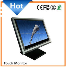 "15"" 4 wire/5 wire resistive touch mode or SAW/ IR touch 15 inch Touch Screen Monitor"
