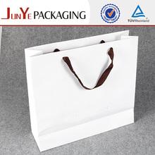 Fashion UV coating happy birthday gift white paper packing bag