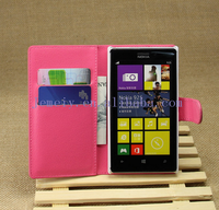 Luxury Fashion Leather Case For Nokia Lumia 925 Stand Design Book Style Phone Back Cover with 6 Colors holder Brand New
