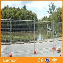 Semai good quality hot dipped galvanized temporary safety swimming pool fence