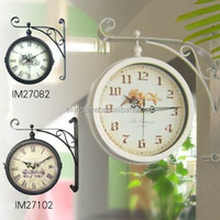 clastic antique outdoor double sided clock