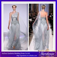 Mejor venta de nombre de marca de color plata zuhair murad vestidos para la venta zuhair murad vestidodenoche( zx022)
