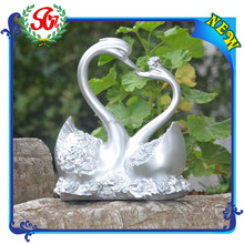SGG109 Sliver Color Floating Swan Resin 2015 Decoration new arrive Home Decor