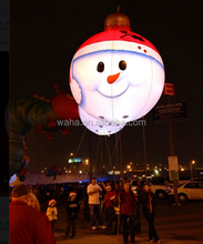 100cm hanging decoration/christmas inflatable snowman/ball with led light W299