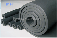 HVAC Anti-fire pvc nitrile rubber foam heat insulation tube/pipe for air conditioning best price