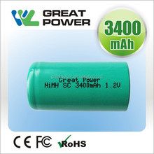 10C 17*65mm 65a 3200mah 1.2v rechargeable nimh Battery for electronic tool