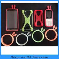 Factory Newest Silicon Ring 3D Cell Phone Case