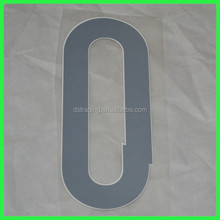 Wholesale new style football number on jerseys