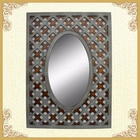 The mirror decorative decals wall mirror old wood