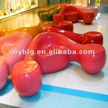 Fiberglass indoor furiture,shopping mall decorative furniture