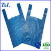 Blue color plain printing used popular in African supermarket t shirt shopping plastic bag