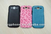 hard plastic case for samsung galaxy s3 I9300 stick leather