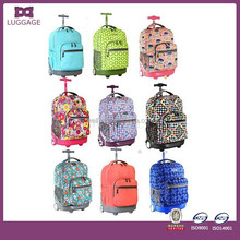 Polyester Fabric Pretty Luggage Travel Bags On Wheels