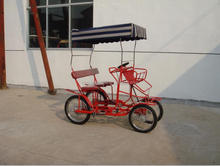 side by side pedal go cart with 4 wheel