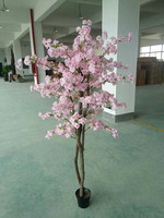 artificial pink cherry blossom tree wedding flower tree home decoration artificial bonsai tree
