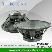 "15"" 600W waterproof subwoofer with Aluminum chassis"